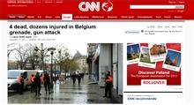 CNN met het nieuws over Luik