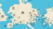 Hoe de wereldkaart eruit ziet op basis van domeinnaam-extensies