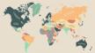 In welke landen is de levenskwaliteit het hoogst? Deze kaart vertelt het je
