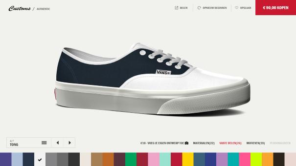 vans schoenen zelf ontwerpen