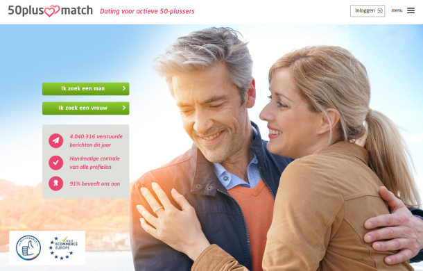 Online daten voor 50 plussers via een 50 Plus Datingsite.